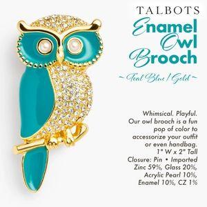 Owl Brooch ~ Enamel